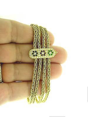 VAN  CLEEF &  ARPELS  18K   GEMSTONE &  DIAMOND BRACELET