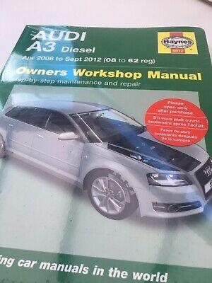 Haynes Manual 5912 Audi A3 1.6TDi 1.9TDi 2.0Tdi DIESEL Apr 2008 Sept 2012 NEW