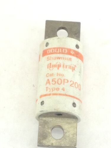 NEW! GOULD SHAWMUT AMPTRAP A50P200 TYPE 4 FUSES 600V  PACK of 10 (A339)