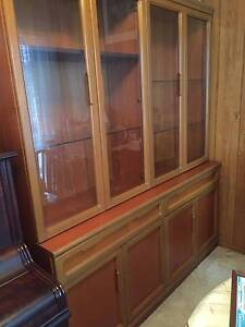 Glass fronted display cabinet and cupboard Oatley Hurstville Area Preview