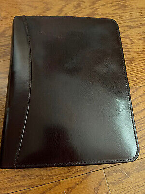Franklin Covey Binder Planner Oxblood Full Grain Leather 7-1.75 Ring Made Usa