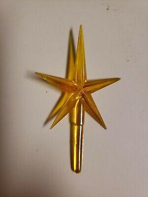10 Vintage Yellow/Gold Iridescent Aurora Stars for Ceramic Christmas Tree 2.5