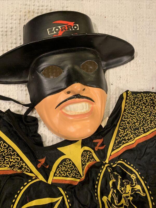 Vintage Ben Cooper Authentic Zorro Deluxe Costume Official Walt Disney In Box