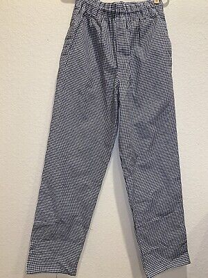 New Chef Works Brand Checkered Baggy Designer Chef Pants Size Extra Small