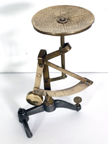 """Vintage Antique 5.5"""" Brass Pendulum Balancing Letter/Post Scale Made in Germany"""