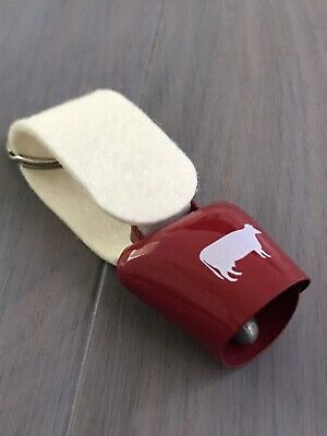 Switzerland Souvenir- Red&white Cow Bell Keychain Never Use](Cowbell Keychain)