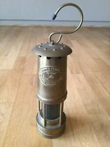 ANTIQUE WELSH BRASS MINERS LAMP