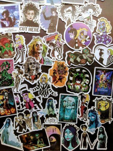 50, Sticker, Decals, 2x2, Movie, Cartoon, Beetlejuice, Corpse Bride, Tim Burton