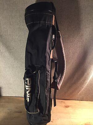 Vintage Ping Original Lightweight Sunday Golf Carry Bag Black Pingman