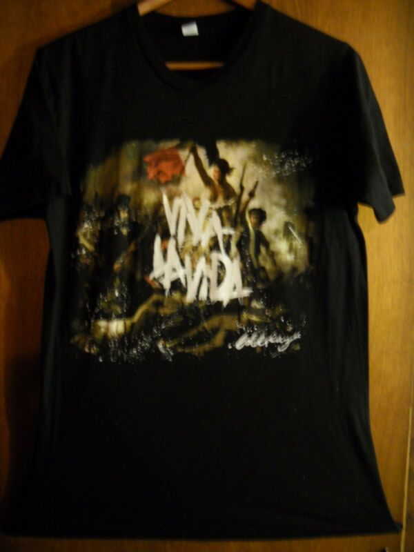 Coldplay- Viva La Vida 2008- Lic OOP- Black T-Shirt- Medium