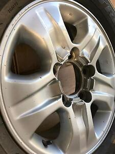 Toyota 100 series factory alloy with new Dunlop 275/65 R17 Goodwood Unley Area Preview