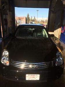Infiniti G35 Black leather heated and Navigation for sale