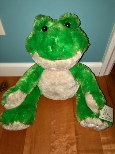 "Celine Dion Large Plush Frog from ""A New Day"" Las Vegas Show Tour RARE courage"