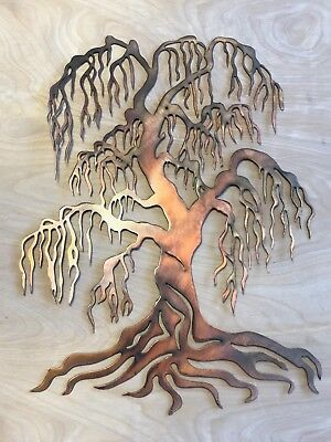 Willow Tree Copper Patina Metal Wall Art