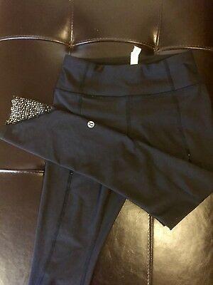 Lululemon Cropped Leggings - Size 4 - Great Used Condition - Black