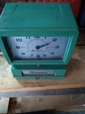 Acroprint Time Clock 150qr4 Heavy Duty For Parts Repair Lqqk