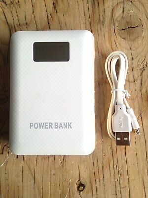 Triple Port Portable 50,000mAh LCD Power Bank W/ Dual Flash Light ! White Gold - Cheap Gold Chargers