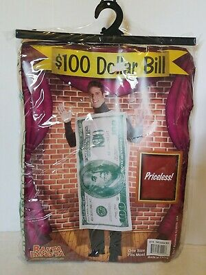 $100 Bill Adult 100 Dollar Halloween Costume Funny Unisex one size Fits most ](Dollar Bill Costume)