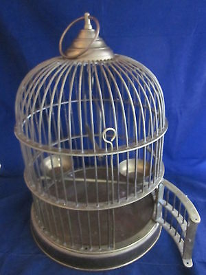 Brass Bird Cage HEAVY SOLID ANTIQUE VINTAGE