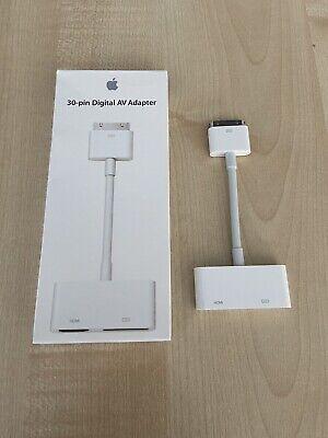 Genuine Apple 30 Pin Digital AV Adapter (HDMI) iPad/ iPhone To Television A1422