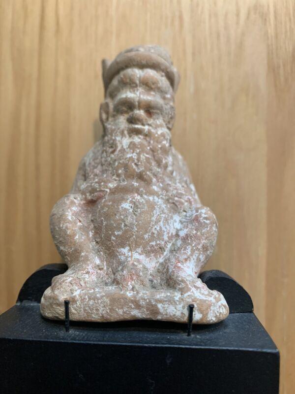 Ancient Ceramic Figure With Museum Provenance ~ Rare! Satire? Roman? Greek?