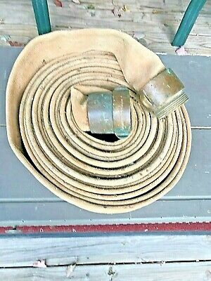 Vintage Fire Hose With Brass Fittings Goodall Rubber Company 50