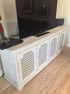 Cabinet / Buffet / TV Unit Large 4 Door Storage Lockable