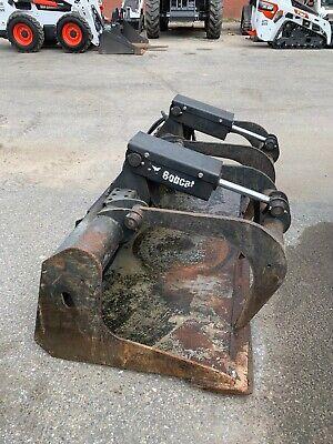 74 Skid Steer Industrial Grapple Bucket Case Bobcat Caterpillar Made By Bobcat