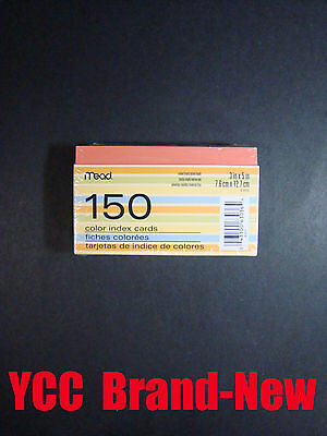 Mead Ruledone Sidecolor Index Cards150 Count 3x5 In7.6 X 12.7 Cm 1pk.