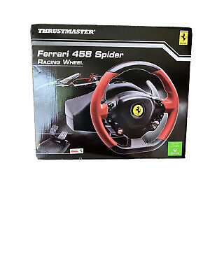 Xbox One Steering Wheel Driving Pedals Racing Video Game 458 Ferrari SHIPS NOW