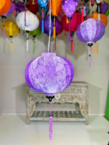PURPLE HANGING LANTERN, Garden Lantern, Traditional Silk Lantern, Asian Lanterns