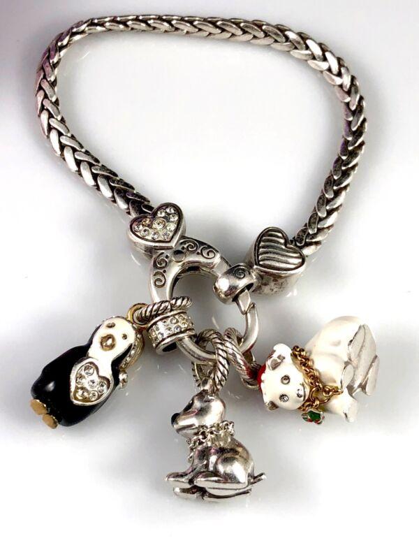 Brighton Pedigree Cat Charm Bracelet