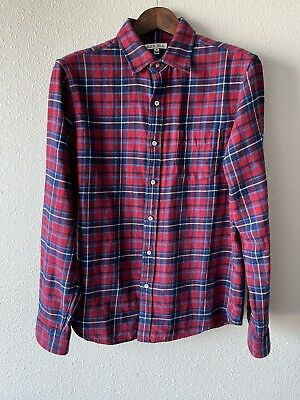 Alex Mill Checked Flannel Red/Navy M