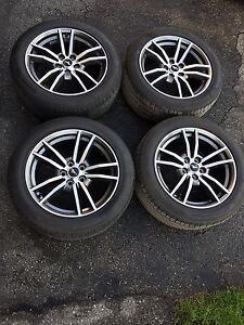 "2017 Ford Mustang OEM 18"" Rims and Tires 2000km!"