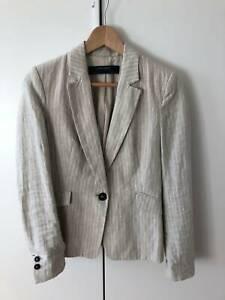 Zara womens linen blazer
