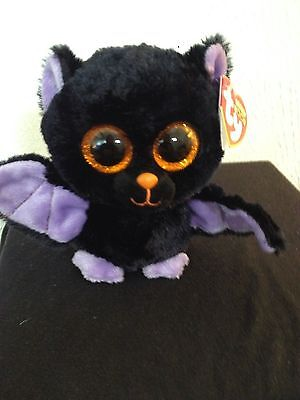 "Ty Beanie Boo Boos Swoops the Bat 6"" Glitter Eyes RED Tag NEW - MWMT VHTF!!"