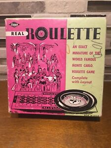 Vintage 1940's Lowe Miniture Roulette Game No 35 in Box