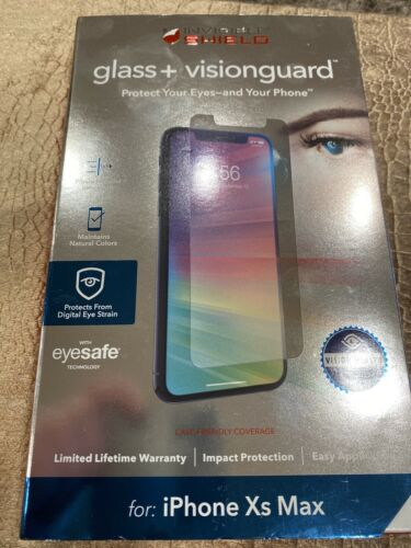 Zagg IPhone Xs Max Invisible Shield Glass Visionguard New Sealed Case Friendly - $9.99