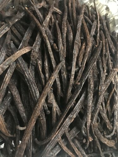 Organic Partial Extract Madagascar Vanilla Beans  2 oz. = 20