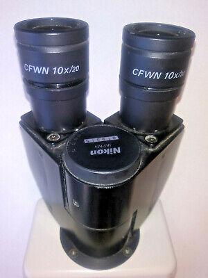 Nikon Optishot Binocular Microscope Head Wcfwn 10 X 20