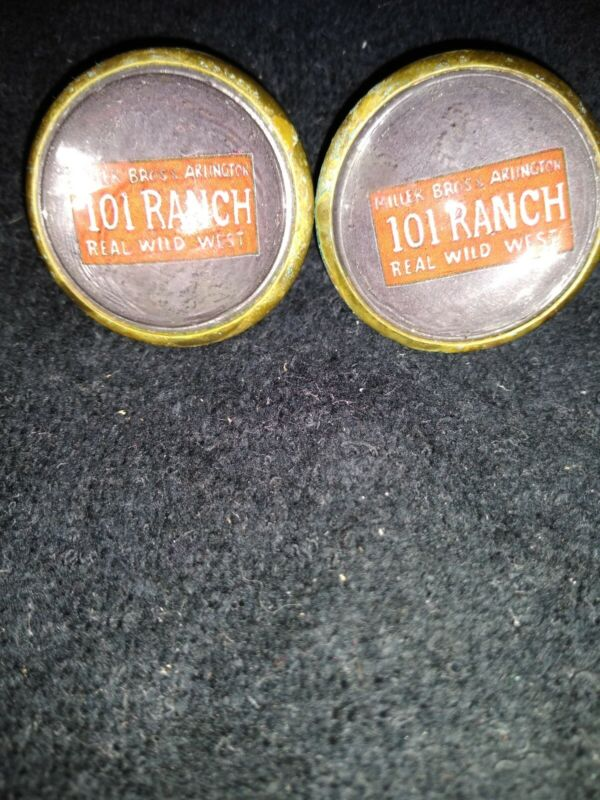 101 Ranch Miller Bros Bridle Rossettes, 2 in brass and glass loop 1 in  Clear
