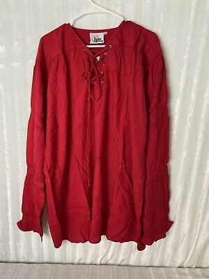 The Pirate Dressing C1009 Seigneur Shirt Size XXL Steampunk Red