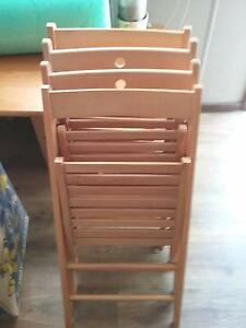 Folding Wooden Chairs Beaconsfield Fremantle Area Preview