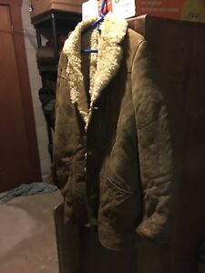 Large men's sheepskin coat