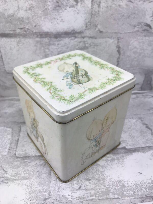 "Vintage Betsey Clark Hallmark Tin With Hinged Lid 4x4x4"" England"