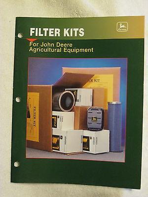 1997 John Deere Dealer Agricultural Equipment Filter Kits Advertising Aid Manual