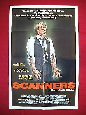 SCANNERS * 1981 ORIGINAL MOVIE POSTER 1SH DAVID CRONENBERG'S HALLOWEEN HORROR NM](Halloween 1981 Movie)