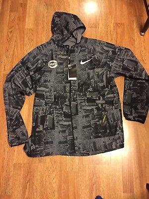 Mens Nike 2018 Chicago Marathon Running Jacket Standard Fit Size L (933326 010)