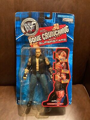 WWE JAKKS UNDERTAKER BONE CRUNCHING ACTION FIGURE WWF 2001 REAL SCAN BCA