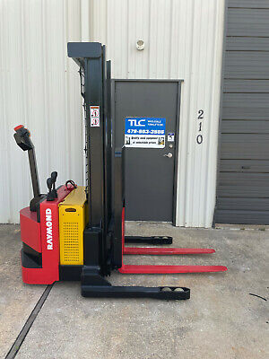 2010 Raymond Rss40 Walk Behind Forklift Straddle- Very Nice 128 3750lb 1939 Hrs